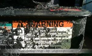Mower Warning