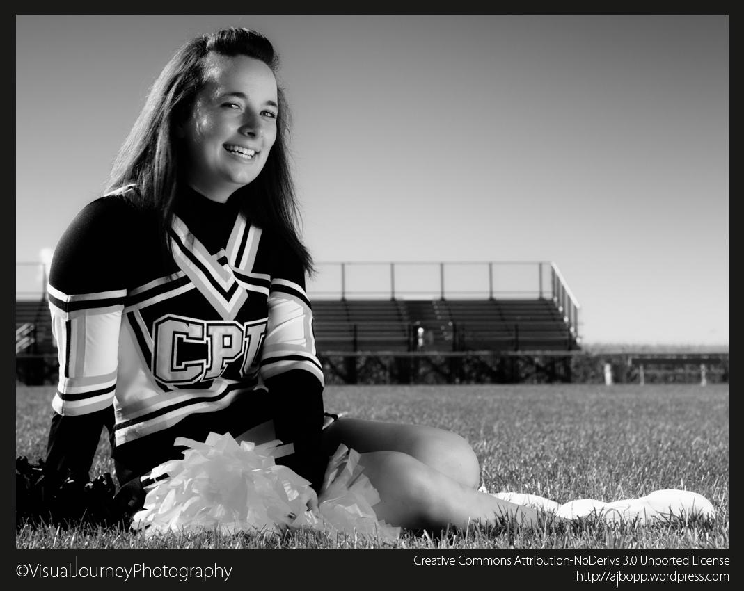 Cheerleader B&W