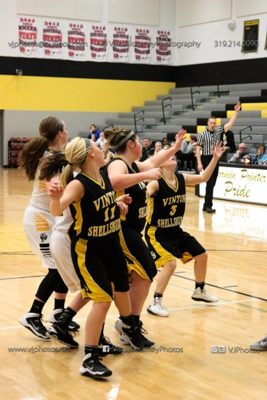 JV Girls Basketball Center Point-Urbana vs Vinton-Shellsburg-1574
