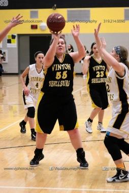 JV Girls Basketball Center Point-Urbana vs Vinton-Shellsburg-1684