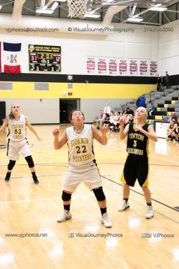 JV Girls Basketball Center Point-Urbana vs Vinton-Shellsburg-1685