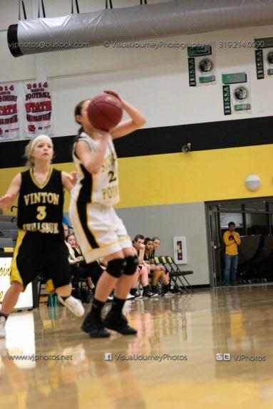 JV Girls Basketball Center Point-Urbana vs Vinton-Shellsburg-1784