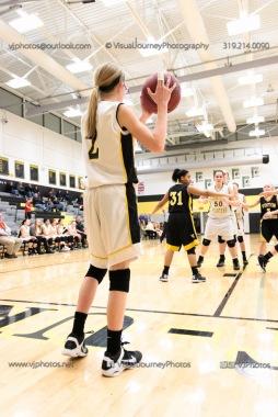 JV Girls Basketball Center Point-Urbana vs Vinton-Shellsburg-1819