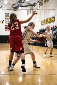 Sophomore Girls Basketball Vinton-Shellsburg vs Williamsburg-0111