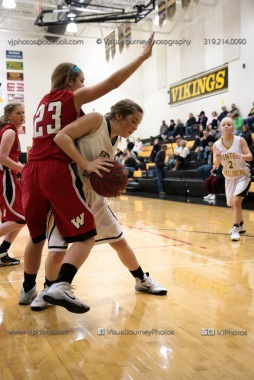 Sophomore Girls Basketball Vinton-Shellsburg vs Williamsburg-0114