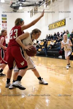 Sophomore Girls Basketball Vinton-Shellsburg vs Williamsburg-0114