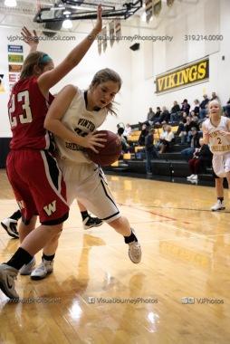 Sophomore Girls Basketball Vinton-Shellsburg vs Williamsburg-0115