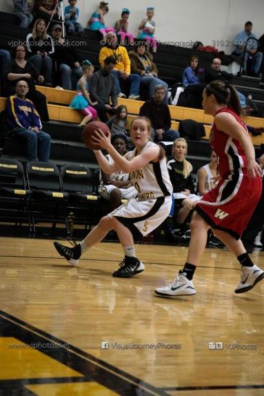 Sophomore Girls Basketball Vinton-Shellsburg vs Williamsburg-0122