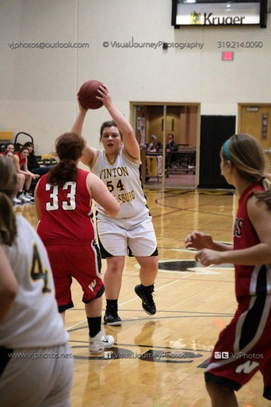 Sophomore Girls Basketball Vinton-Shellsburg vs Williamsburg-0271