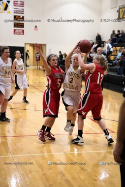 Sophomore Girls Basketball Vinton-Shellsburg vs Williamsburg-0283