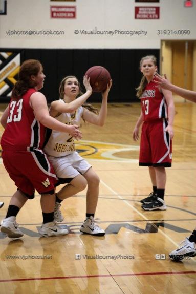 Sophomore Girls Basketball Vinton-Shellsburg vs Williamsburg-0286