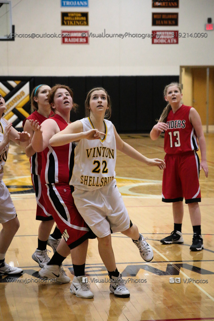 Sophomore Girls Basketball Vinton-Shellsburg vs Williamsburg-0288