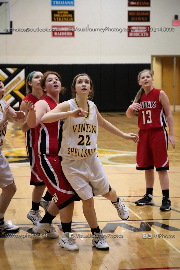 Sophomore Girls Basketball Vinton-Shellsburg vs Williamsburg-0288