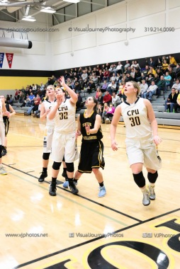 Varsity Girls Basketball Center Point-Urbana vs Vinton-Shellsburg-2009