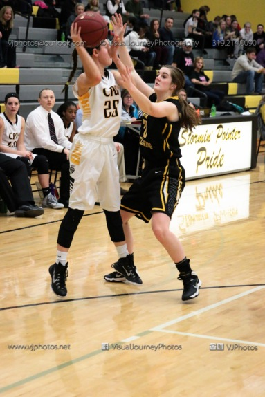 Varsity Girls Basketball Center Point-Urbana vs Vinton-Shellsburg-2014