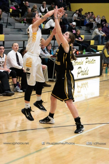 Varsity Girls Basketball Center Point-Urbana vs Vinton-Shellsburg-2015